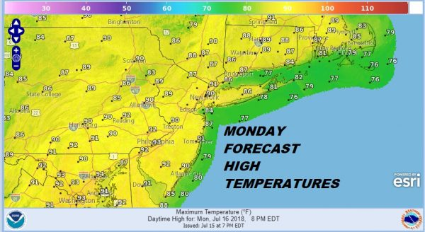 Hot Humid Monday Thunderstorms Tuesday Dry Weather Midweek