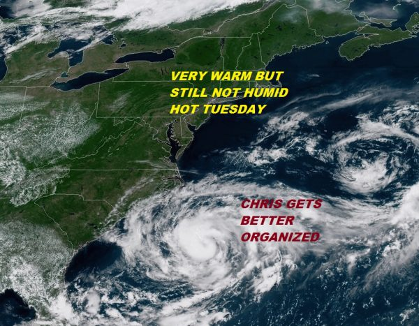 Hot More Humid Tuesday Wednesday Thursday Dry & Warm