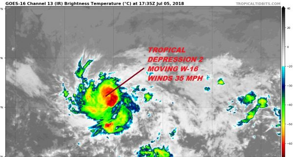 Tropical Depression 2 Forms Eastern Atlantic No Threat to Land