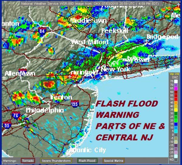 Flash Flood Warning Hunterdon Somerset Counties New Jersey