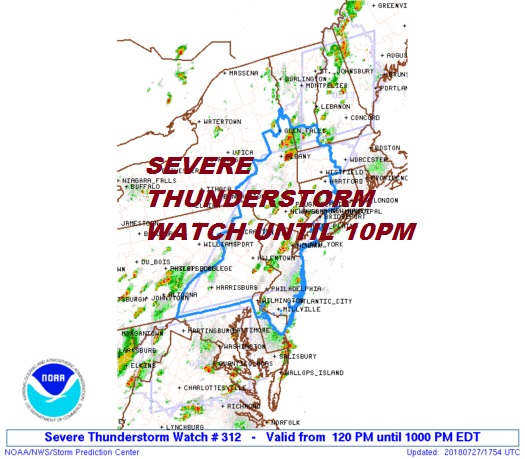 severe thunderstorm Severe Thunderstorm Watch Continues through 10pm