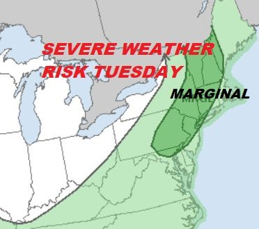 Hot Humid Today Severe Weather Risk Tuesday
