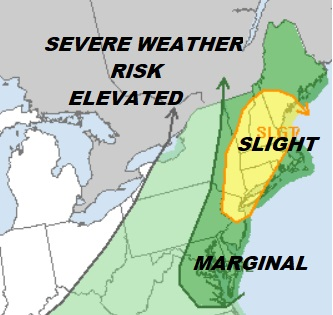 Severe Weather Risk Elevated Thunderstorms Later Today