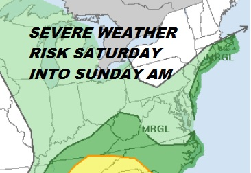 Low Pressure Bringing Heavy Rain Saturday Into Sunday Downpours Late Sunday Severe Weather Risk