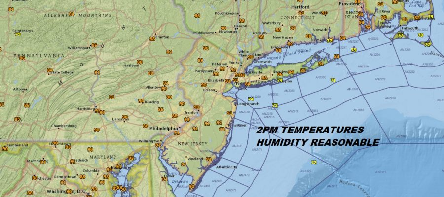 Sunny Hot Afternoon Humidity Reasonable