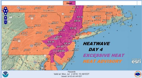 Heatwave Day 4 Excessive Heat Warning Inland