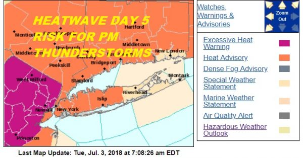 Heatwave Day 5 Thunderstorms Late Today Very Humid