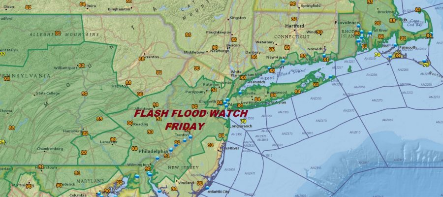 Flash Flood Watch Friday Strong Storms Heavy Rains Possible