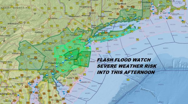 Flash Flood Watch Severe Weather Risk Beautiful Weekend