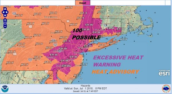100 Degree Highs Today Excessive Heat Humidity