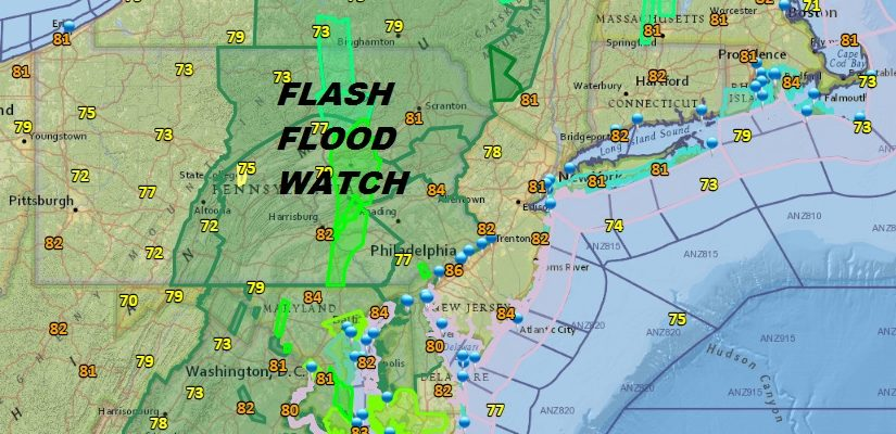 Flash Flooding Possible Through Wednesday A Bit Better Late Week