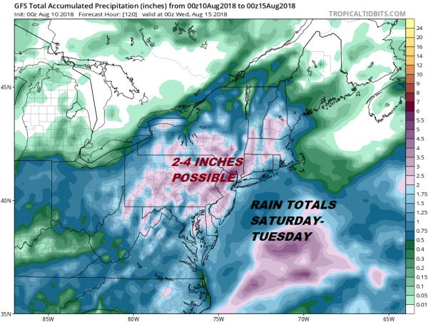 Flash Flood Threat Rain Weekend