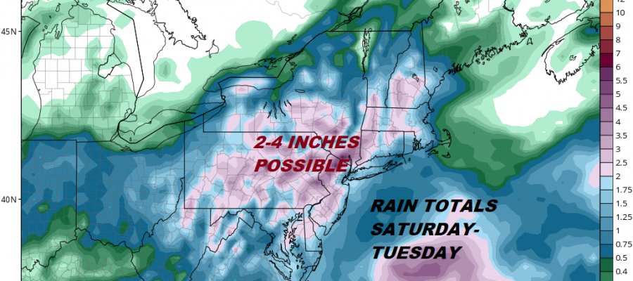 Flash Flood Threat Rain Weekend Next Week 2 to 4 Inches Possible