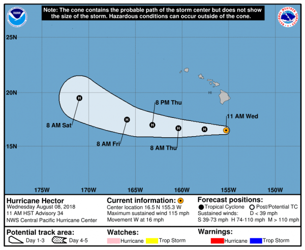 Hurricane Hector Passing South of Hawaii Tropical Storm Debby North Atlantic