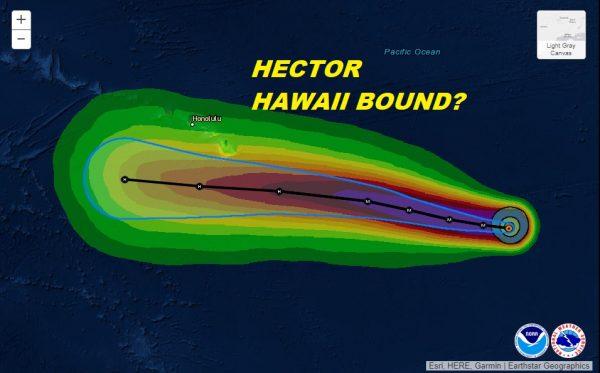 Hurricane Hector Hawaii Bound