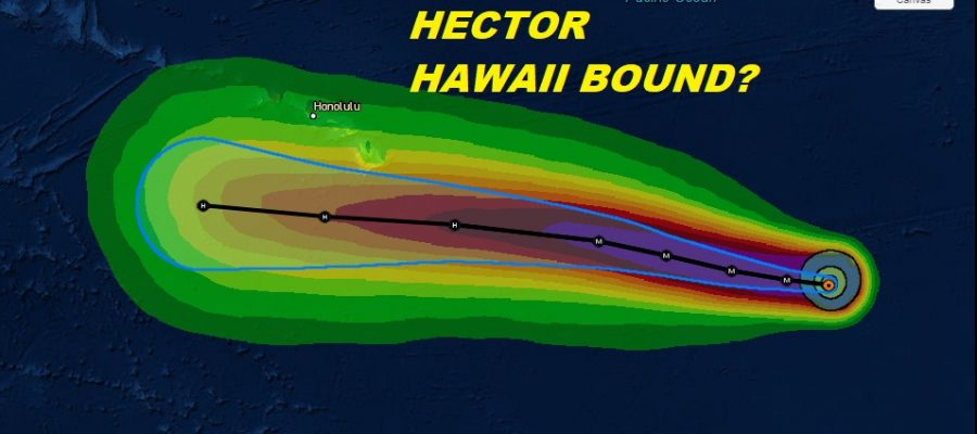 Hurricane Hector Hawaii Bound