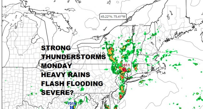 Downpours Flash Flood Threat Looms Monday Strong Thunderstorms Possible