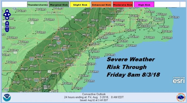 Severe Weather Flash Flood Risk Continues Inland