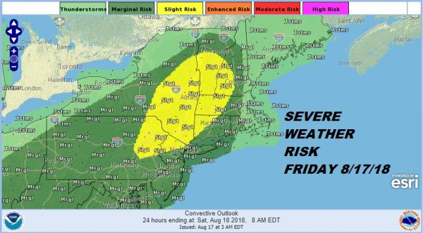 Severe Weather Risk Weekend Forecast