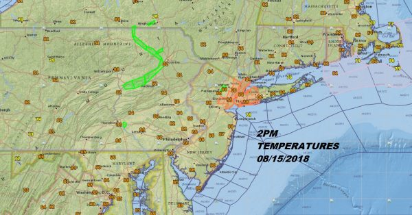 Very Warm Afternoon Front Arrives Friday Night