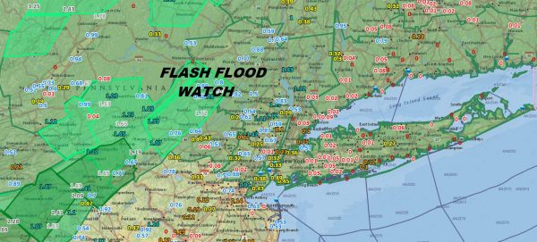 Flash Flood Watch Northern New Jersey to Southern New England