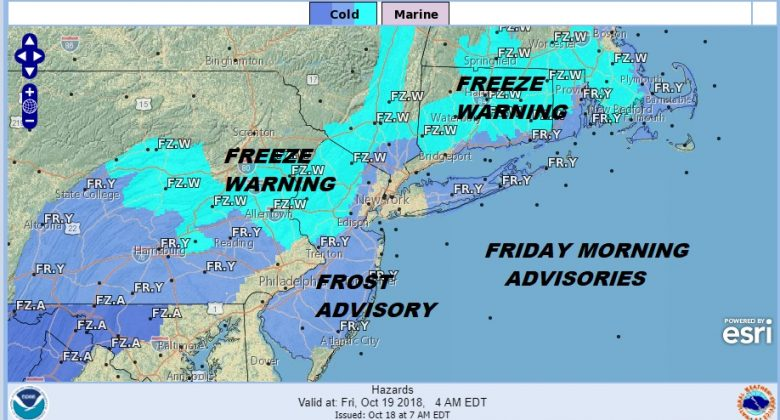 frost freezes