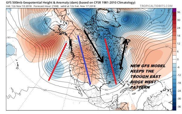 long range weather pattern