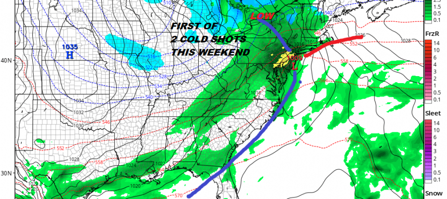 two storm systems snow forecasts