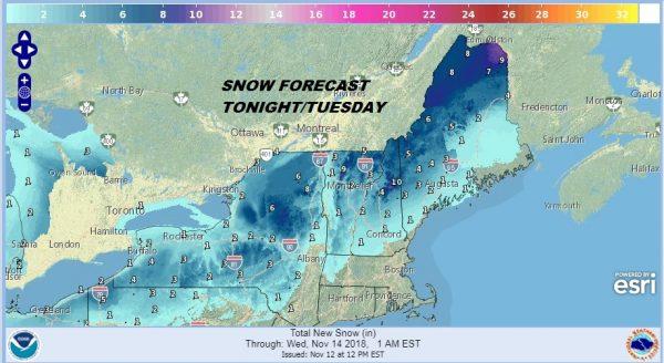 snow upstate ny
