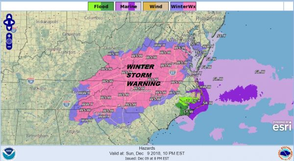 snowstorm winter storm warning