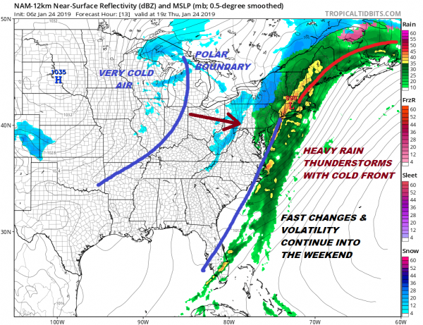 Flood Watch Heavy Rain Much Colder Friday Weekend Polar Vortex Drops Into US