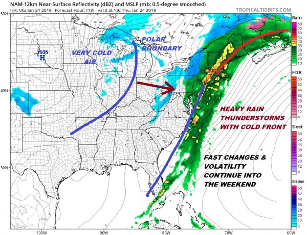 Flood Watch Heavy Rain Much Colder Friday Weekend Polar Vortex Drops Into US