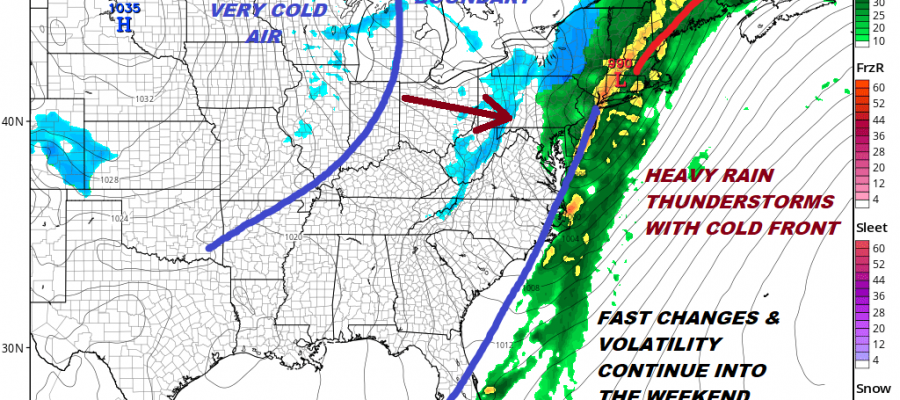 STRONG COLD FRONT ALONG EAST COAST