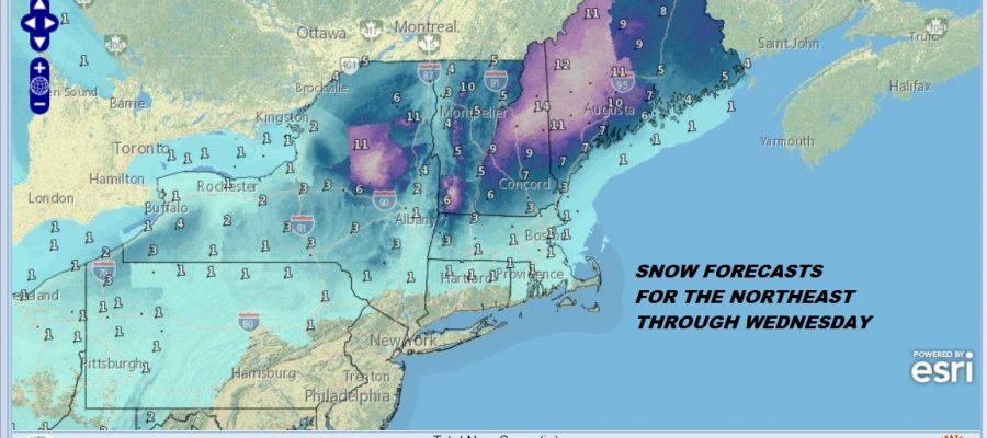 Snow & Ice Forecast Monday 01072019