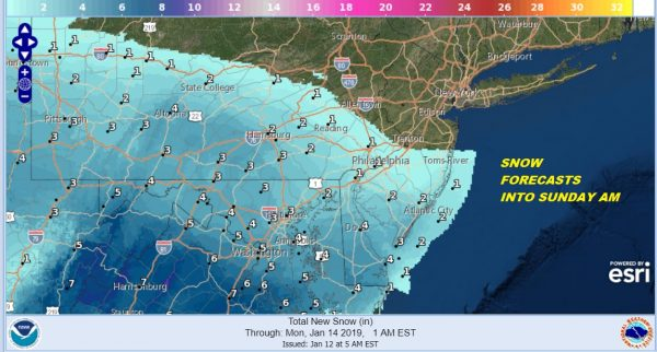 Winter Storm Warning Middle Atlantic States Warnings Expanded