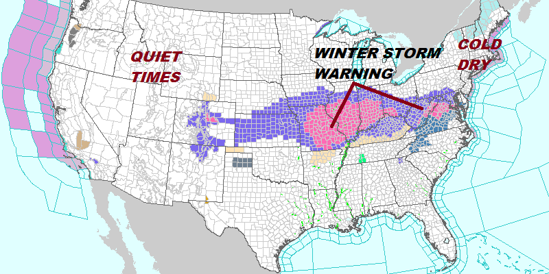 National Weather Service Snow Forecast Maps 11/12-13/2019 - Weather ...