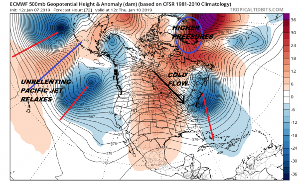 Snow Threat This Weekend? Split Jet Issues Suppressed or Phased?