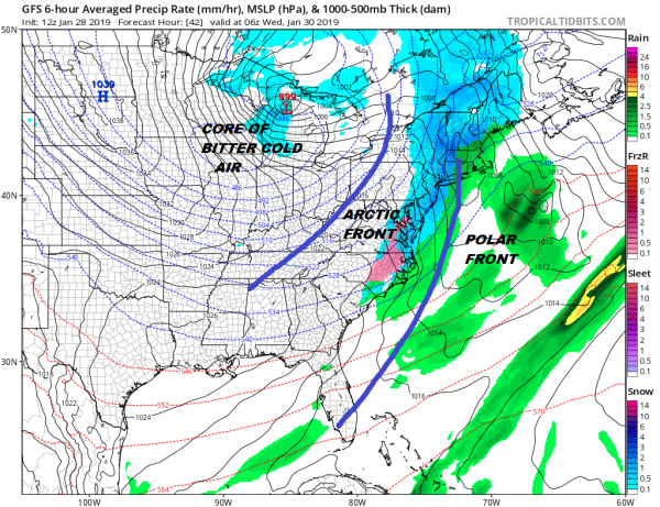 Quick Shot of Snow Tuesday Weather Models Show No Changes