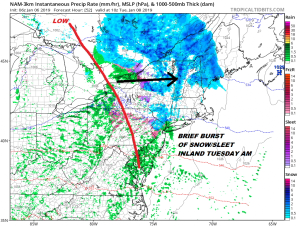 Drying Out Better Sunday Snow Sleet NW Monday Night