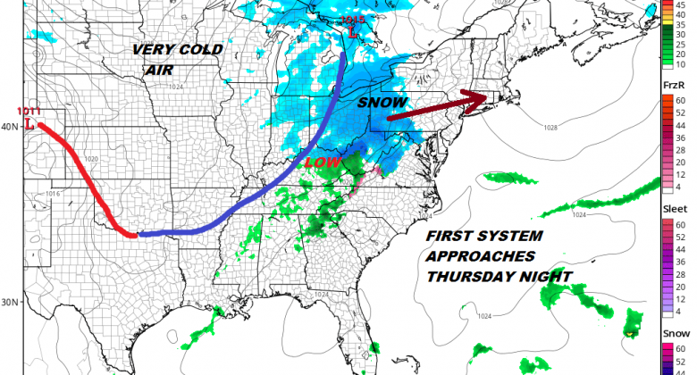 2 Weather Systems In Play First Thursday Night Into Friday Morning