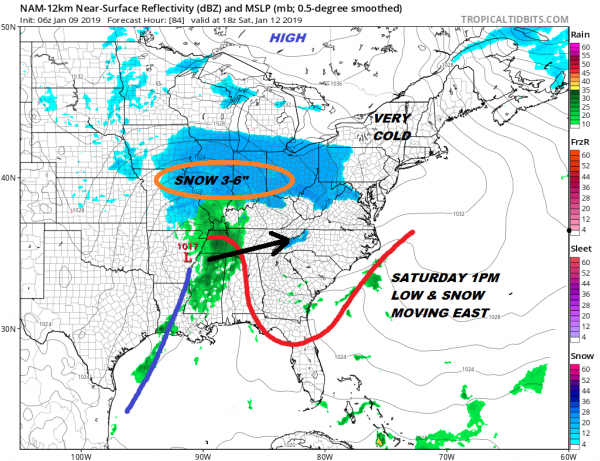 Strong Winds Cold Air Snow Possibility Weekend