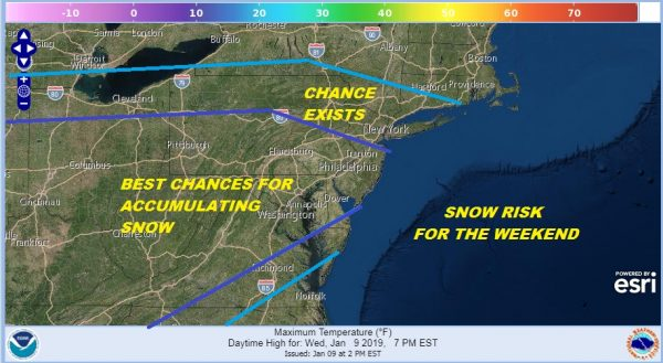 Snow Threat Grows Mid Atlantic States Chance Coastal New Jersey Southern New England