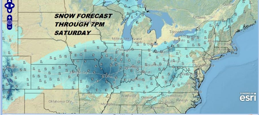 Snow Forecast Maps Saturday Sunday 1/12-13/2019