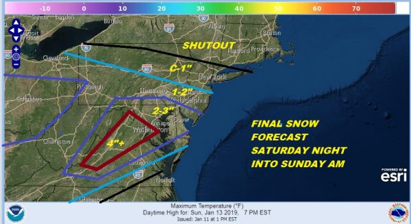 Snow Light Event Saturday Night Sunday Morning