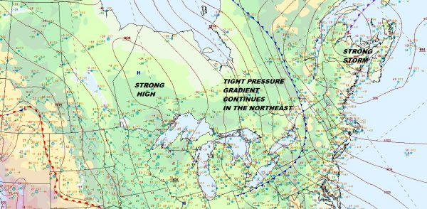 Unrelenting Wind Eases Friday Cold Weekend Snow Chance