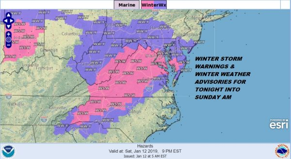 National Weather Service Snow Forecasts Winter Storm Middle Atlantic States