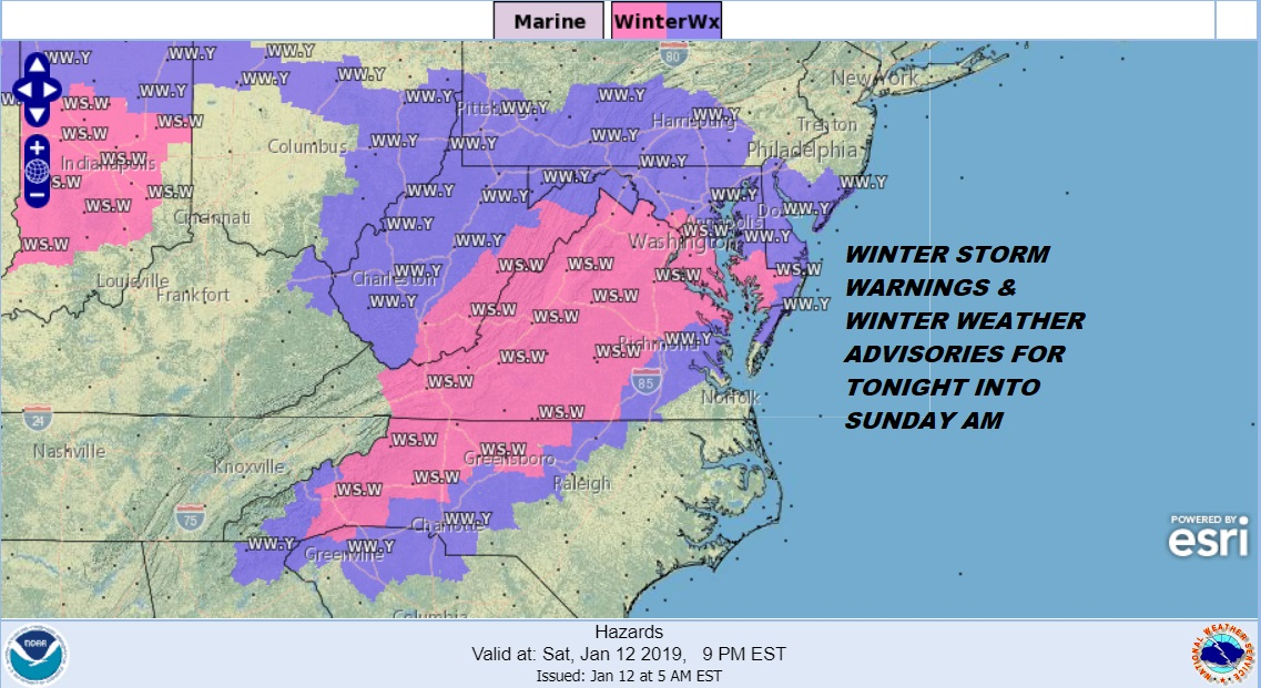 Winter Weather Advisory In Effect Until Sunday