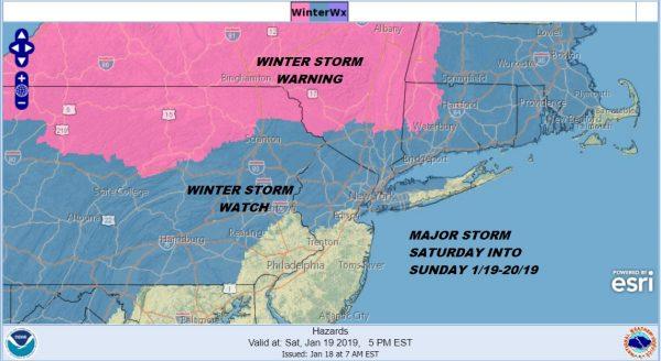 winter storm warning snow