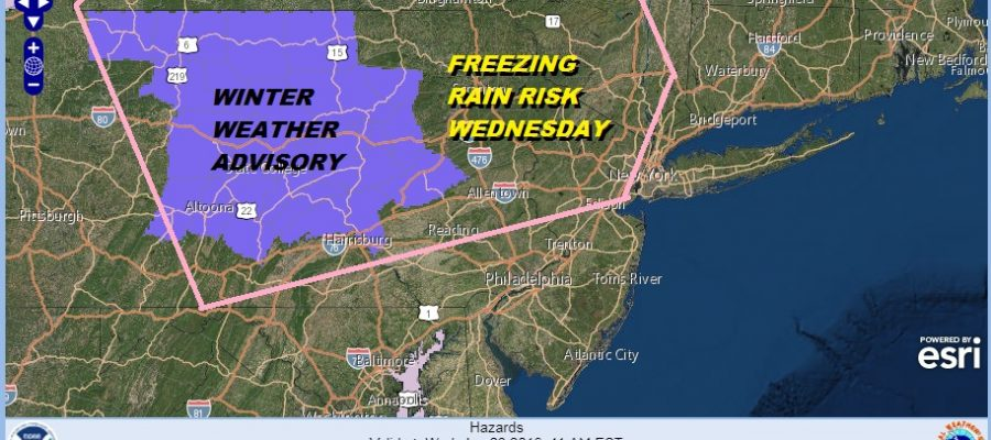 FREEZING RAIN RISK WEDNESDAY