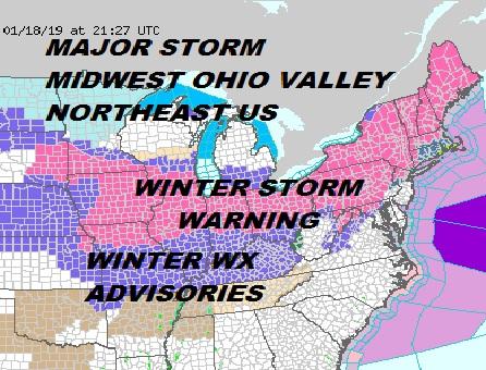 winter storm warning snow forecast